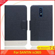 "5 Colors Hot!! SANTIN ix365 Case 6"" Flip Ultra-thin Leather Exclusive Phone Cover Fashion Folio Book Card Slots(China)"