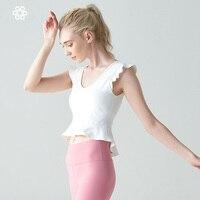 Women Yoga Shirts Vest Ladies Girls Sleeveless Crop Top Sports Shirts Professional Fitness Gym Workout Running Slim Top