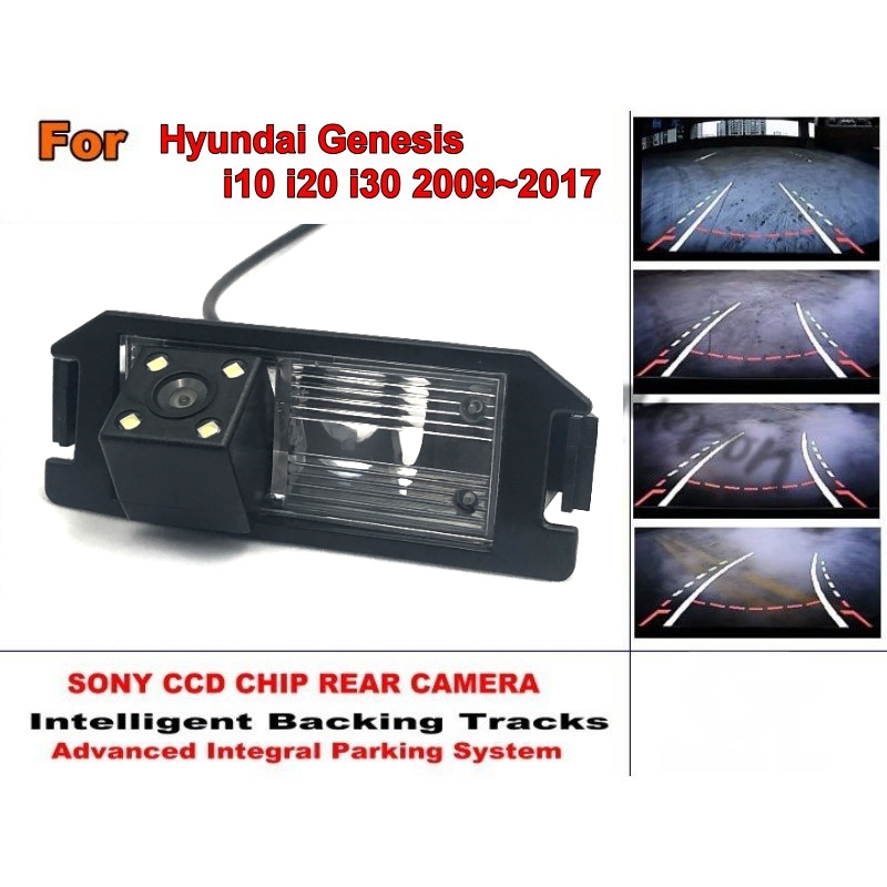 Car Intelligent Parking Tracks Camera HD Back up Reverse Camera Rear View Camera For Hyundai Genesis