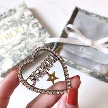 C1848 Korean wave exquisite ornaments star bee heart crystal hairpin retro brass wheat J letter fringe hairpin