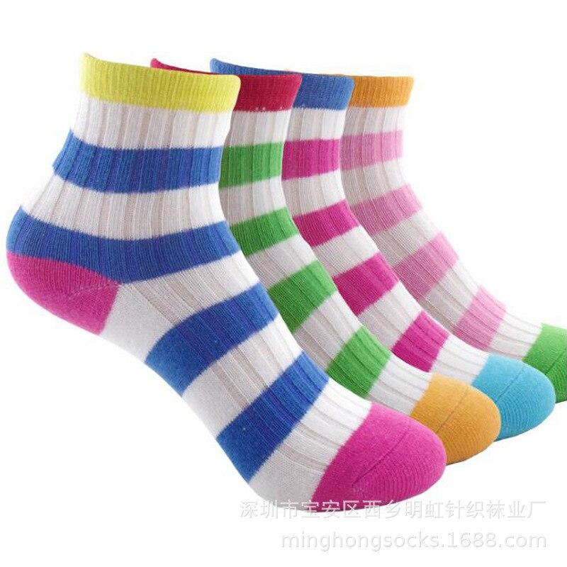 Baby Cotton Socks Stripes CHILDRENS Cotton Socks Rainbow Stripes CHILDRENS Socks Breathable Infant Men And Women Socks