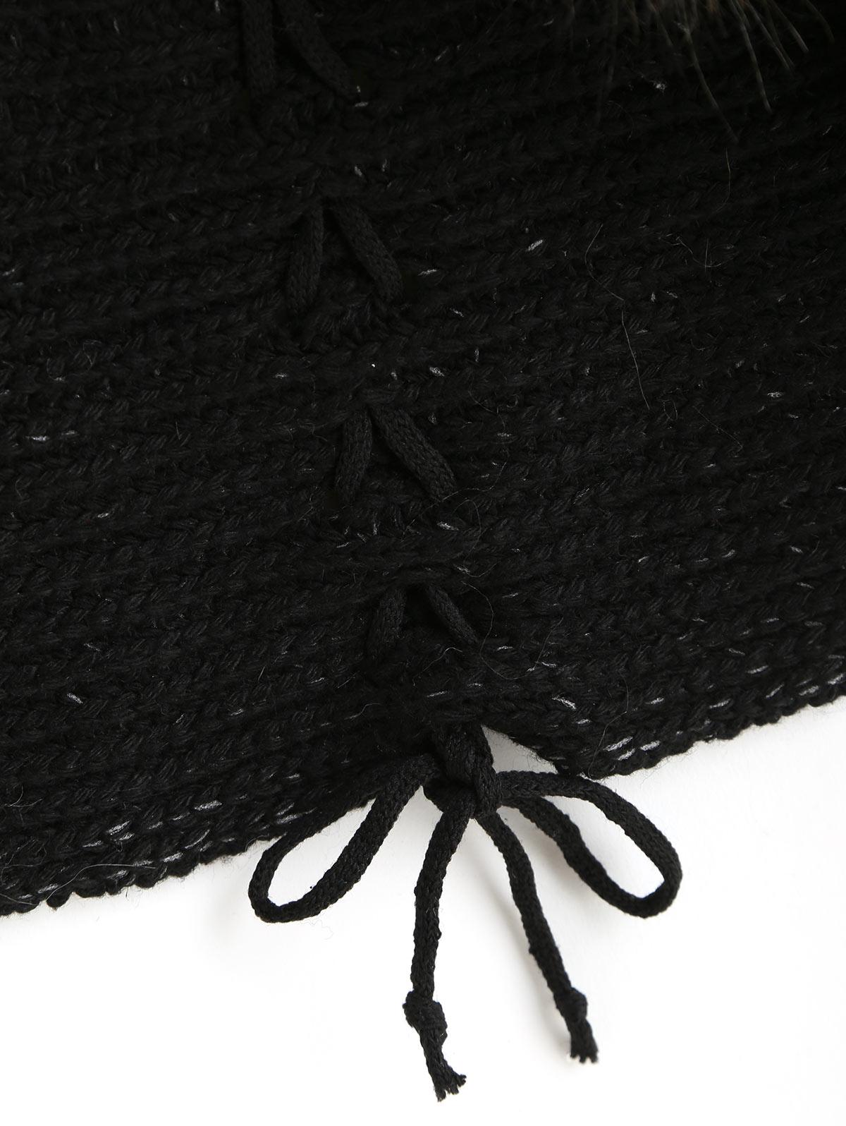 Women/'s Batwing Sleeve Faux Fur Collar Sweater Knit Cardigan Chunky Jacket Coat