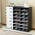 Prateleira de plástico modular para sapatos, suporte organizador para sapatos de armário, corredor, quarto, sapatos, prateleira, armazenamento diy