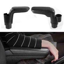 Caixa de apoio de braço de couro com armário de suporte de copo para mercedes smart novo 453 fortwo forfour 2015 2018 acessórios interiores automotivos