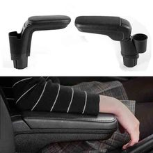 Leather armrest box with cup holder locker for Mercedes New Smart 453 Fortwo Forfour 2015 2018 Automotive interior accessories