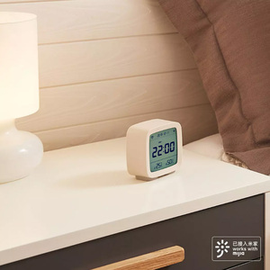 Image 4 - Youpin Qingping Bluetooth Temperature Humidity Sensor Mijia Night Light LCD Alarm Clock Mihome App control Thermometer