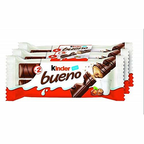 Kinder Bueno Chocolate Wafer - 43g - Pack Of 3 (43g X 3 Bars)