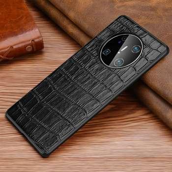 Cassa del Cuoio genuino Per Huawei Compagno di 40 Pro Caso Della Copertura Anti Caduta Etui Coque Per Huawei Compagno di 40 Custodia Morbida protezione completa Fundas