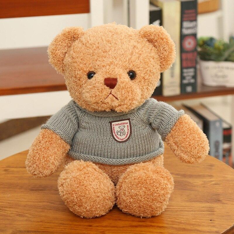 20/30cm Cute Bear Dolls Teddy Bear Stuffed Animals Fluffy Bear Dolls Toy Bear Wedding Gifts Baby Toy Birthday Gift For Toys