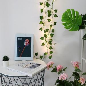 Светодиодный гирлянда для искусственных растений, 2 м/20 см, гирлянда с зеленым листом, плющая лоза, Сказочная гирлянда с кленовыми листьями, подвесное освещение «сделай сам»