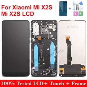 "Image 1 - 5.99 ""עבור Xiaomi Mi Mix2S LCD תצוגת מסך מגע חדש החלפת Digitizer עצרת זכוכית לוח עבור Xiaomi Mi לערבב 2S עם מסגרת"