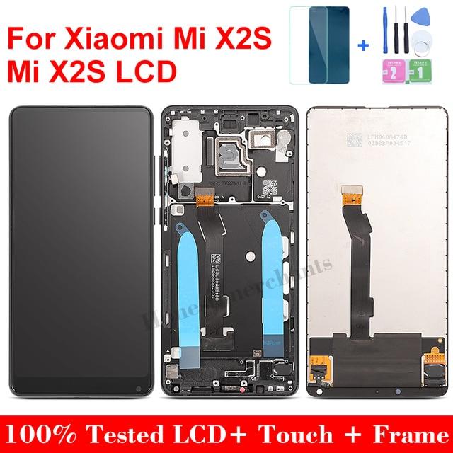 """5.99 """"עבור Xiaomi Mi Mix2S LCD תצוגת מסך מגע חדש החלפת Digitizer עצרת זכוכית לוח עבור Xiaomi Mi לערבב 2S עם מסגרת"""