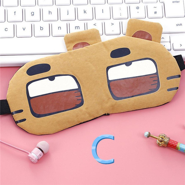 New Arrivals Korean Cute Eye Patch Soft Padded Sleep Travel Shade Cover Rest Relax Sleeping Blindfold Eye Care Tools Eye Mask 2
