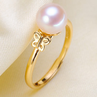 925 Silver Plated Fashion Butterfly Pearl Ring Accessory Adjustable Ring Making Mountings DIY Rings Jewelry Making women Gift