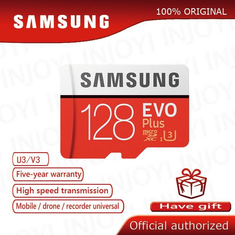 מקורי Samsung EVO + 128GB Class10 מיקרו SD כרטיס C10 80 MB/S SDHC SDXC UHS-1 פלאש זיכרון MicroSD TF כרטיס cartao דה memoria