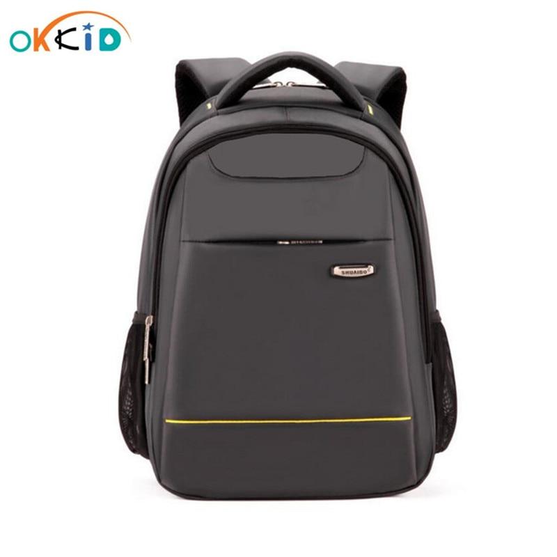 high quality boys school bags college backpack waterproof 15 inch laptop bag men travel bags schoolbag bagpack birthday gift