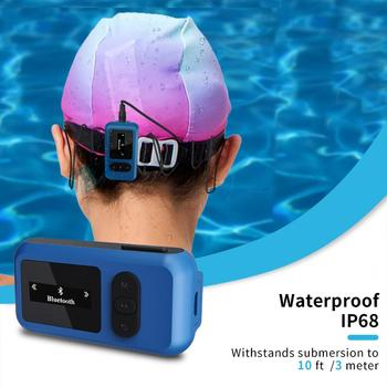 16GB Swimming Waterproof MP3 Player Underwater Diving Music Players Headsets Touch Screen Earphones IP68 FM Radio Pedometer USB