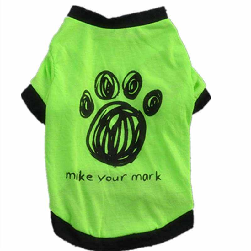Nhỏ Dog Cat Puppy Vest T-Shirt Áo Quần Áo Vật Nuôi Mùa Hè Trang Phục Trang Phục Hợp Thời Trang Áo Bóng Đá