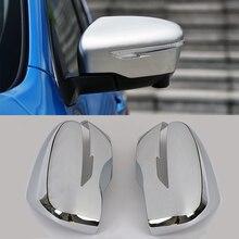 JEAZEA 1 Paar Achteruitkijkspiegel Cover Trim Chrome styling Fit Voor Nissan Qashqai 2019 Auto Accessoire