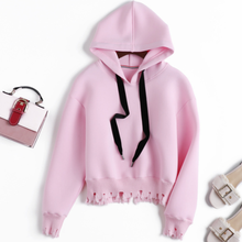 The New Casual Clothing Korean Style Oversize Instagram Fashion O-neck Cotton Hoodie Autumn Women Solid Color Streetwear 2019
