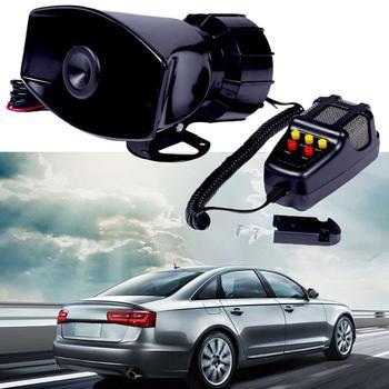 1 uds, megáfono de motocicleta para coche, 12V, 100W, alarma de coche, camión, policía, altavoz de fuego, sirena Pa, micrófono con sonido de 5 tonos