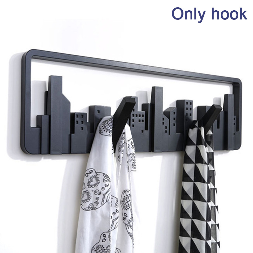 Living Room Bedroom Decorative Wall Mount Home Multipurpose Hook Sturdy Storage Pastoral Style Black Coat Hanger Durable