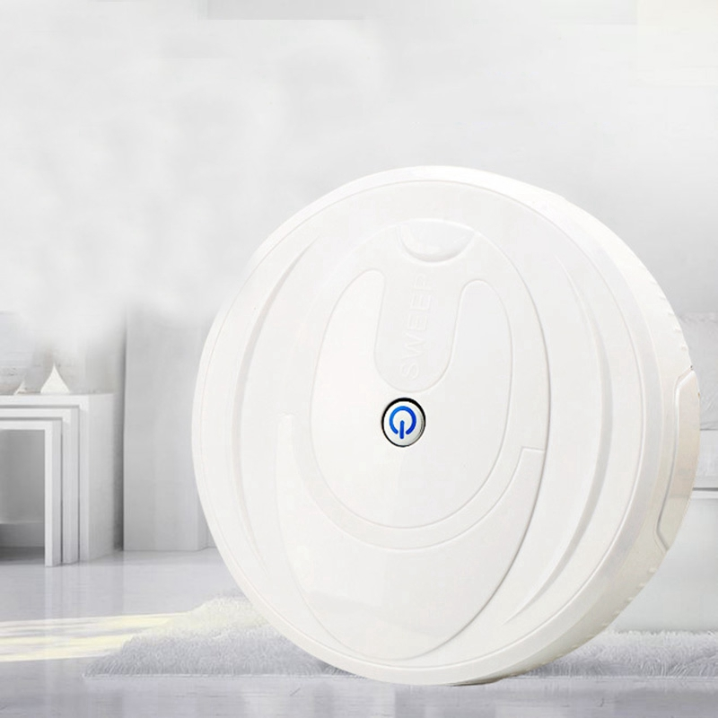 Full Automatic Mini Vacuuming Robot Vacuum Cleaner Sweep And Wet Mop Simultaneously For Hard Floors And Carpet Run Charging Swee
