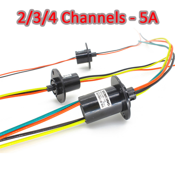 Anillo Micro deslizante 2/3/4 canales 5A 12,5mm mesa de comedor giratoria anillo deslizante anillos colectores eléctricos