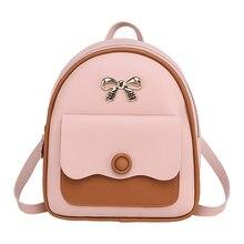 Moda novo estilo coreano mini ombro pequeno saco de volta multi-funcional pequena mochila para meninas