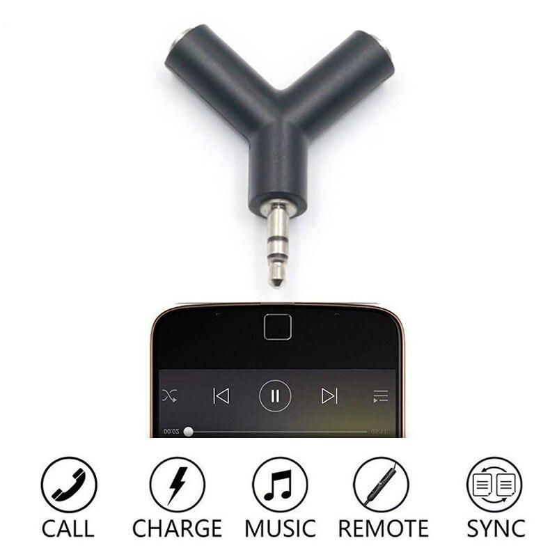3.5mm Y Type Splitter Earphone Plug Audio Adapter Converter One Minute Two Audio Mini Y Shape Two-way Headphones