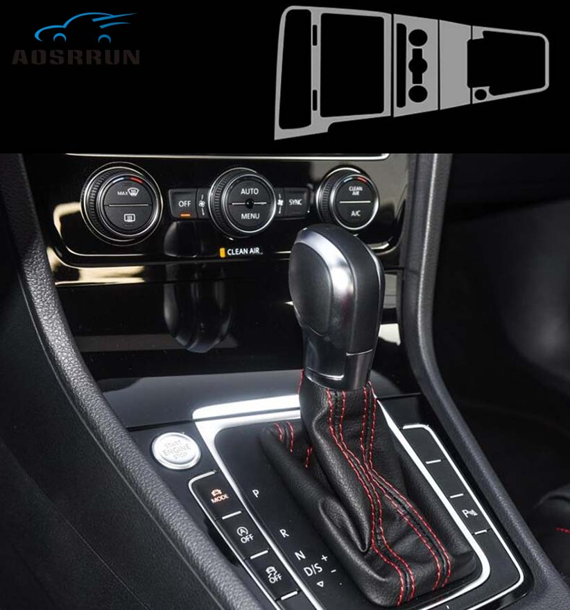 For Volkswagen Golf Mk7 2018 Central Control Panel Film TPU Transparent Protective Film Car Accessories