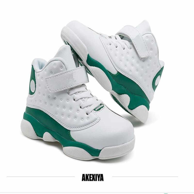 ילדי נעלי 2019 מקורי חדש הגעה J13 ילדים נעלי ריצה חיצוני ספורט אוויר רשת נעלי ספורט בנים בנות נעלי כדורסל