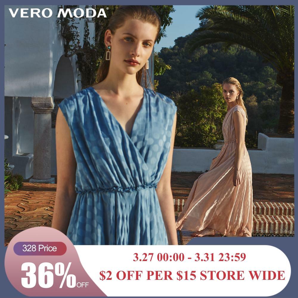 Vero Moda Women's Polka Dots Cinched Waist Dress | 31927B548