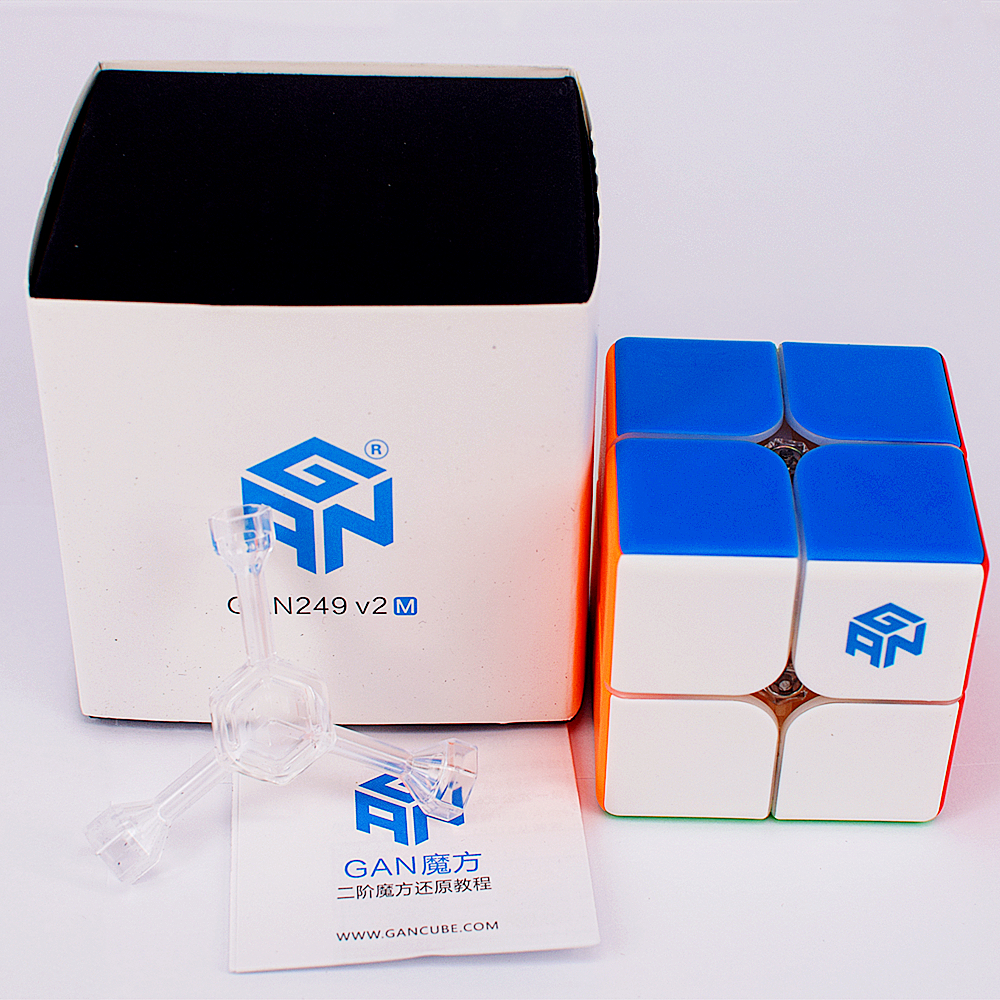 GAN 249 V2/V2 M Magnetic 2x2x2 Magic Cube GAN249 V2 2X2 Speed Cube GAN 2X2 Magnetic Puzzle Cube Gans 2x2x2 Cube GAN Cubo Magico