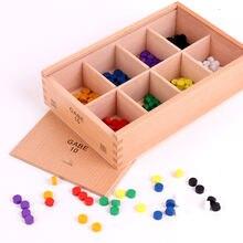 Новые деревянные детские игрушки froebel gabe10 развивающие