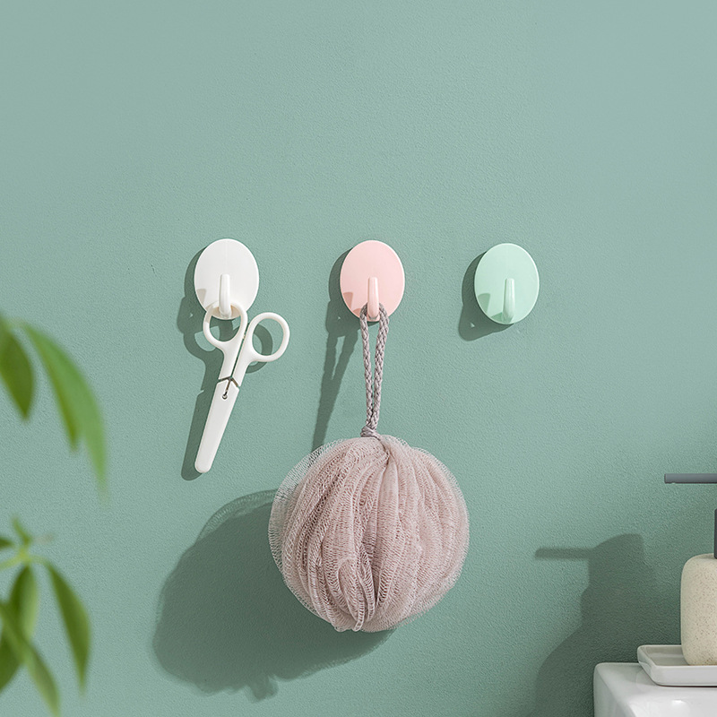 3-5pcs/pack * Strong Adhesive Stickers Wall Wall-mounted Load-bearing Suction Cup Kitchen Hooks