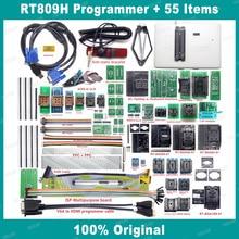RT809H EMMC NAND 플래시 USB 프로그래머 + 55 항목 BGA48 BGA64 BGA169 TSOP56 SOP44 DIP44 EDID Cble + 빠는 펜이있는 모든 어댑터