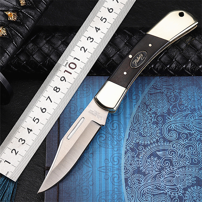 2020 New Hot Sale 7Cr17Mov Steel Tactical Folding Knife Survival Pocket Outdoor Camping Wood Handle Hunting Knives EDC Tools