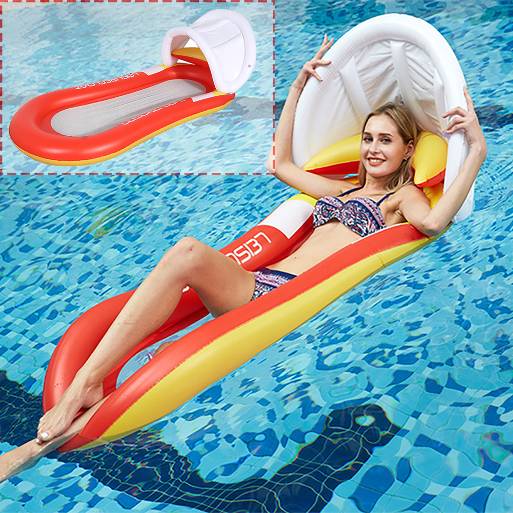 PVC Swimming Pool Summer Outdoor Bed Air Mattresses Beach Floating Water Sports Chair Hammock Folding Inflatable Awning