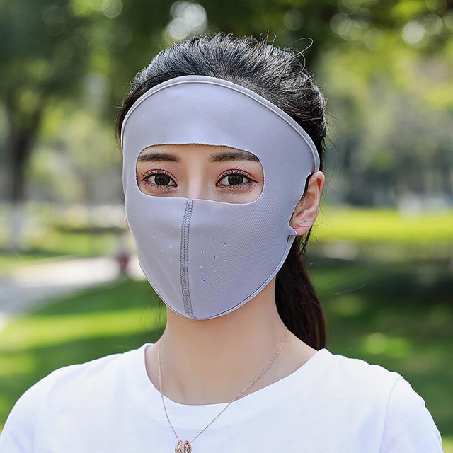 Mask Summer Sports Sun UV Protection Ultra Thin Sunscreen Outdoor Full Face Mask 2