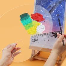 Acrylic Paint Palette Transparent Clear Gouache Artist Mixing Tools Painting Palette Cleanup Watercolour Paint Easy For Oil V0M3