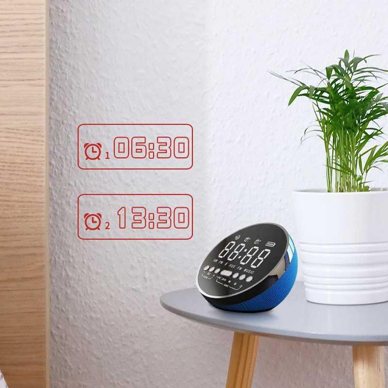 Беспроводная bluetooth-колонка портативная музыкальная звуковая коробка мини Led время Повтор Будильник для ПК ноутбука