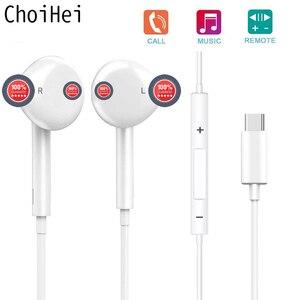 Image 2 - Тип C наушники с микрофоном проводные USB C Цифровые наушники DAC In Ear USB C гарнитуры для Pixel 2 3 XL Samsung Huawei Xiaomi HTC