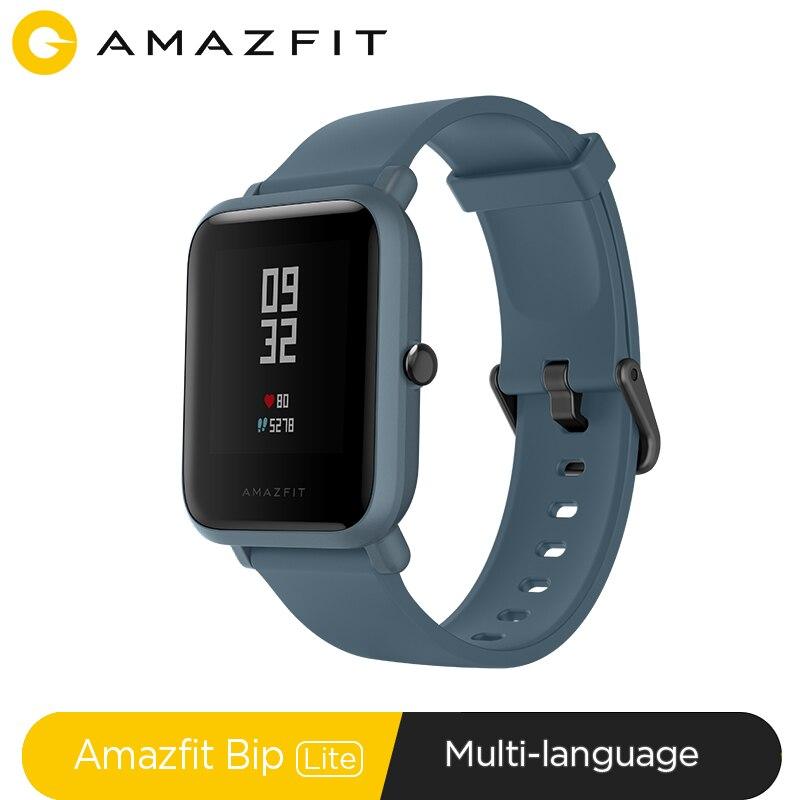 Versão global huami amazfit bip lite esportes relógio inteligente 45 dias bateria vida 3atm smartwatch para xiaomi android ios redmi telefone