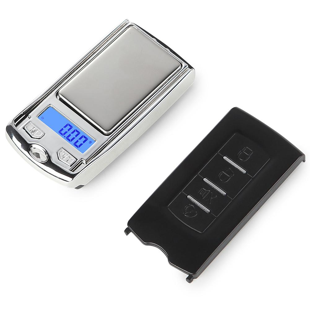 New 100g/0.01g Mini Portable Stainless Steel High Precision Jewelry <font><b>Electronic</b></font> Digital Scale Balance <font><b>Car</b></font> <font><b>Key</b></font> Ring Keychain image