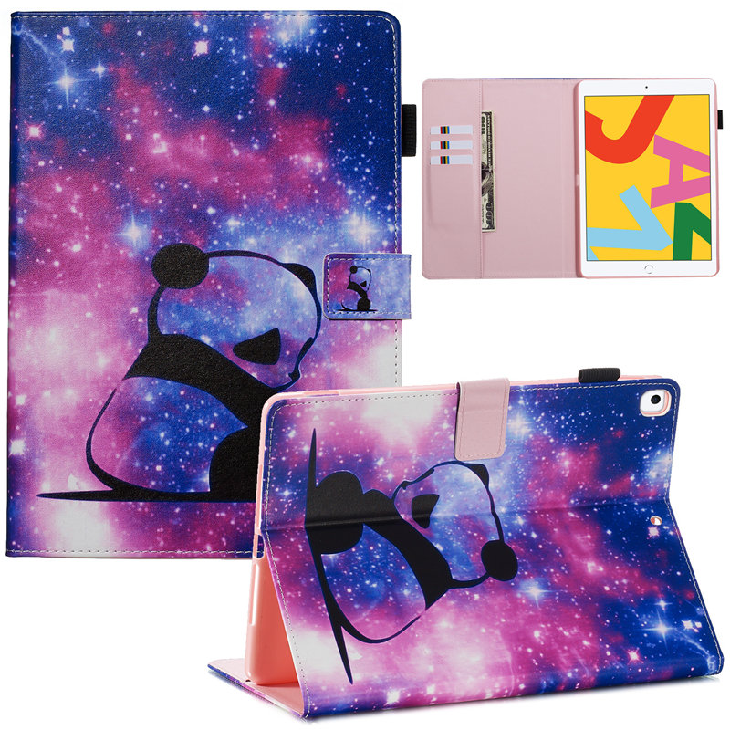 10 Pink Cute Flip Stand Case For iPad 10 2 Case 2019 Smart Tablet Cover For iPad 10