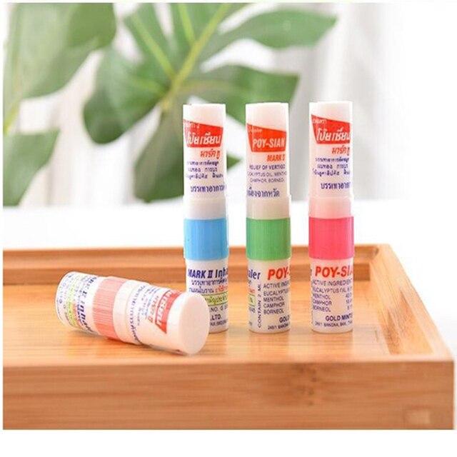 100% New Thailand Nasal Inhaler Poy sian Mark 2 Herbal Nasal Inhaler Poy Sian Stick Mint Cylinder Oil Brancing Breezy Asthma