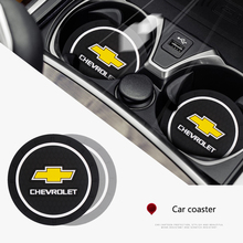 2PCS Car Coasters Slot Non-Slip Pad Water Cup Holder Mat Accessories For Chevrolet Colorado