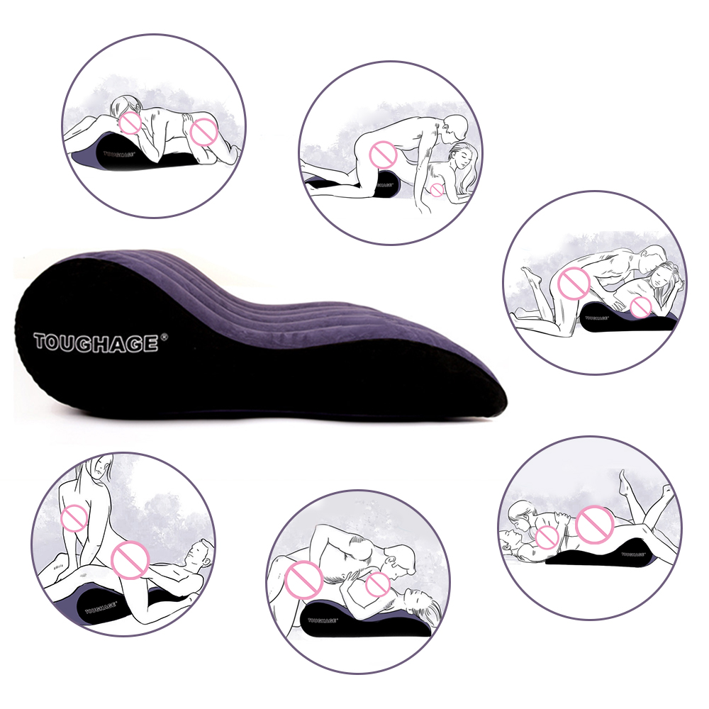 Inflatable Sex Aid Pillow Inflatable Pad Love Position Cushion Sex Furniture For Women Erotic Sofa Adult Games Toys For Couples