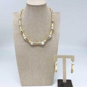 Image 3 - Viennois דובאי עבור נשים במבוק עיצוב זהב מצופה שרשרת ולהתנדנד עגילי תכשיטי סט תכשיטים סט